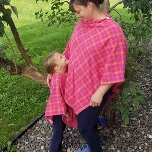 Mommy and Me Flannel Plaid Poncho